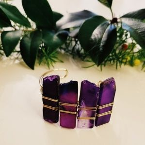 Jewelry - Purple Agate Cuff Bracelet